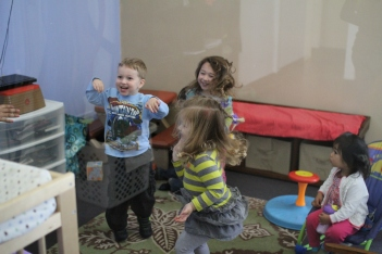 kiddos in kids room