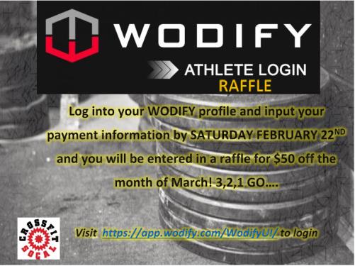 wodify athlete raffle
