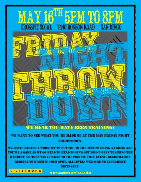 friday night throwdown may