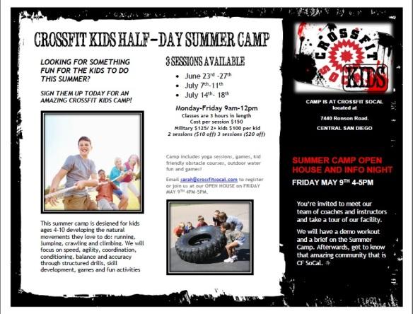 kids camp flyer