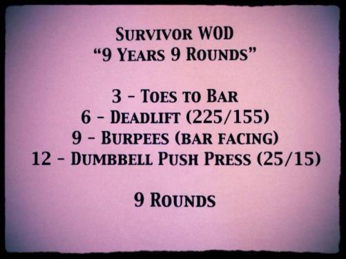 survivor WOD